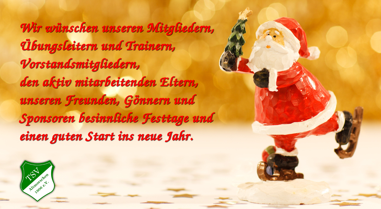 Wir Wünschen Euch Frohe Weihnachten Und Einen Guten Rutsch.Frohe Weihnachten Und Einen Guten Rutsch Nach 2019 Tsv Altmorschen